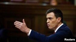 Le chef du Parti socialiste espagnol Pedro Sanchez à Madrid, Espagne, 2 mars 2016.