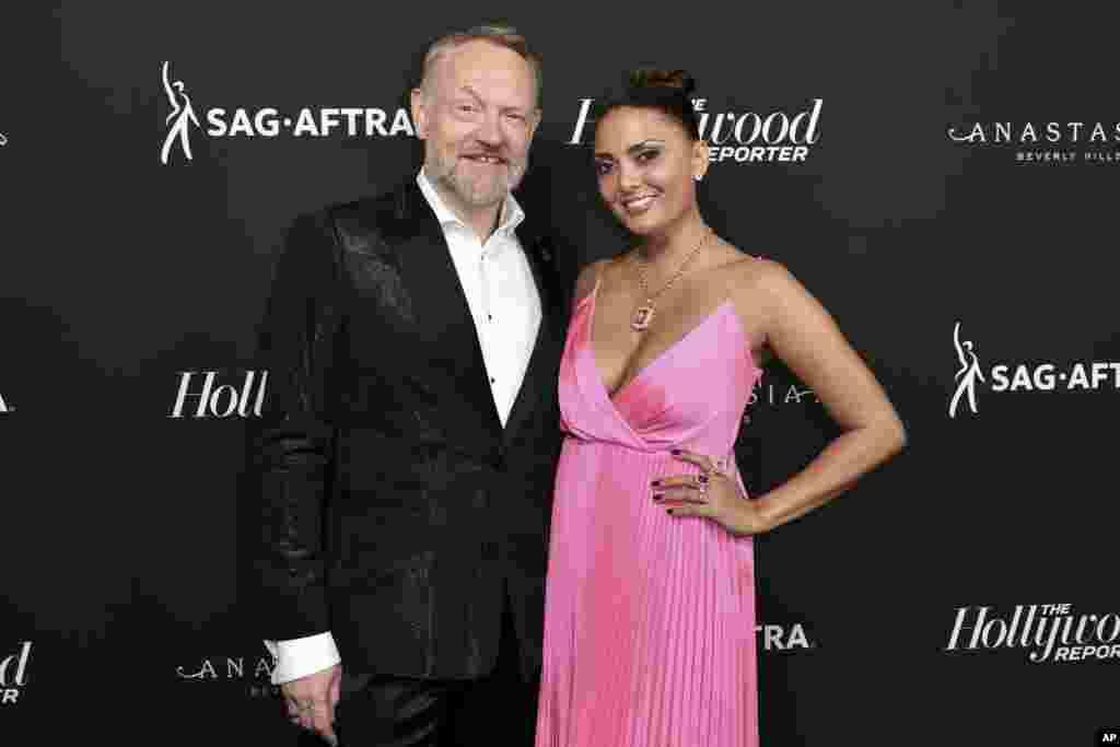 جرد هریس و آلگرا روجیو در مراسم اعلام نامزدان جوایز امی ۲۰۱۹ در بورلی هیلز کالیفرنیا. مراسم اهدای جوایز امی روز یکشنبه برگزار می شود.