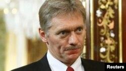 រូបឯកសារ៖ អ្នកនាំពាក្យវិមានក្រឹមឡាំង លោក Dmitry Peskov ក្នុងជំនួបជាមួយនាយករដ្ឋមន្ត្រីជប៉ុនកាលពីខែ មេសា។