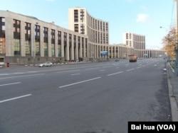 莫斯科的萨哈罗夫大街。(美国之音白桦拍摄)
