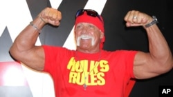 Le catcheur américain Terry Bollea allias Hulk Hogan