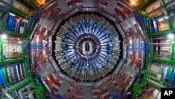 FILE - CERN's Large Hadron Collider, near Geneva.