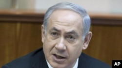Israel's Prime Minister Benjamin Netanyahu speaks during the weekly cabinet meeting in Jerusalem, 09 Jan 2011