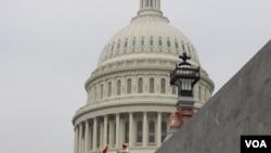 نمایی از ساختمان کنگره آمریکا