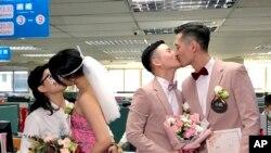 台灣兩對同性戀伴侶2019年5月24日在台北舉行合法的同性婚禮。