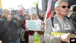 Марш протеста фермеров в Бельгии