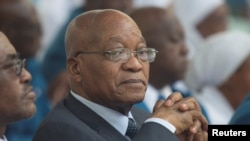 FILE - South Africa's President Jacob Zuma.