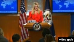 美国国务院副发言人哈夫(国务院视频截图)