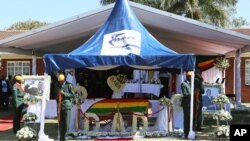 Burial site of former President Robert Mugabe, who died in Singapore on September 6, 2019.