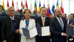 Ratifikaciji klimatskog sporazuma prisustvovao je i generalni sekretar Ujedinjenih nacija Ban Ki-mun