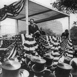 Theodore Roosevelt is welcomed in New York after his trip