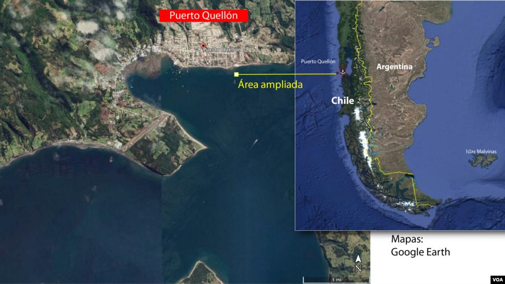 Mapa del sitio del temblor.