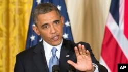 Presiden Barack Obama menepis tudingan partai Republik bahwa serangan Benghazi berusaha ditutup-tutupi, dalam konferensi pers Senin (13/5).