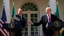 Tête-à-tête entre Donald Trump et Jair Bolsonaro