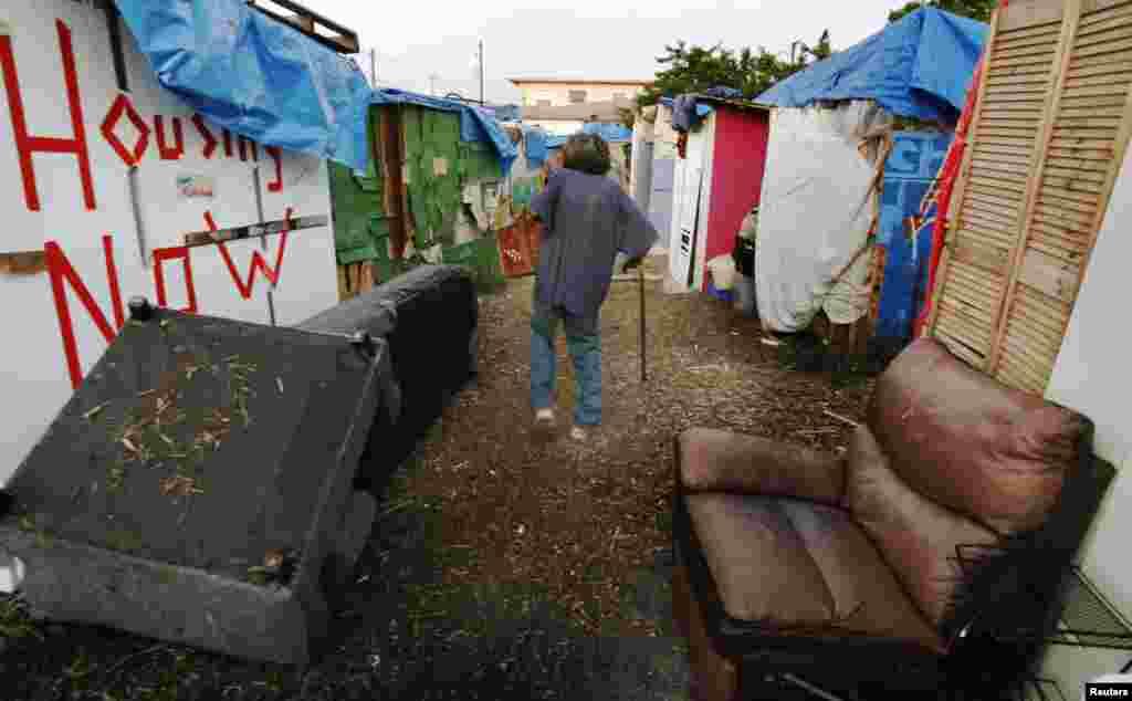 امریکہ: بے گھر افراد کی بدحالی