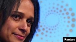 Isabel dos Santos, empresária angolana, num evento da Reuters em Londres