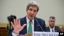 John Kerry testifies before the House Foreign Affairs Committee, Dec. 10, 2013.