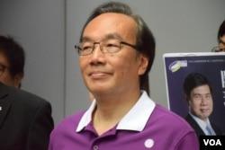 香港公民黨黨魁梁家傑。(美國之音湯惠芸攝)