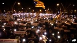 西班牙人1月16日要求当局释放加泰罗尼亚独立运动领袖(美联社)