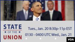 ولسمشر اوباما د کابل پر وخت د د چهارشنبې د سهار په ۰۶:۳۰ بجو کانګرس ته خپله وینا واوروي.
