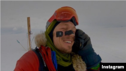 Colin O'Brady posted this picture of himself on his Instagram account, December 26, 2018, after completing his 54-day trip across Antarctica.