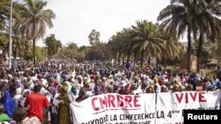 Une manifestation de femmes à Bamako le 10 janvier 2013