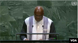 Roch Kaboré à l'ONU, le 24 septembre 2019.