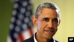 Başkan Obama tatil yerinde gazetecilere açıklama yaparken