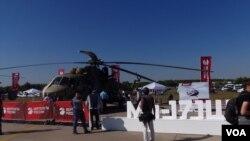 米-171SH攻擊運輸直升機(美國之音白樺拍攝)