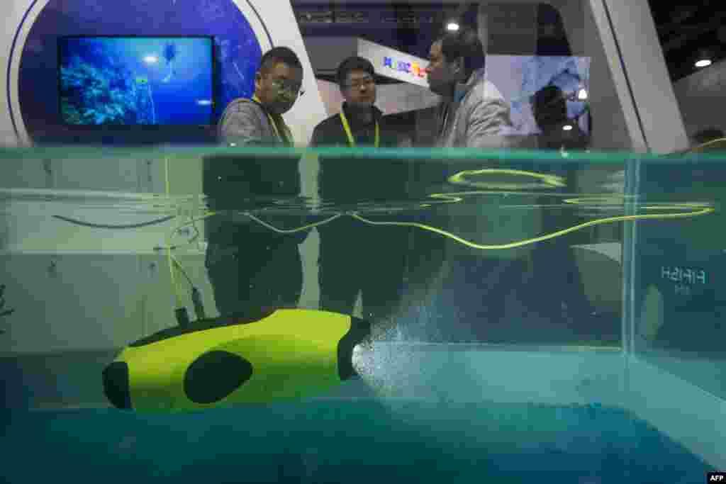 تصویری از ربات زیردریایی در نمایشگاه کالاهای الکترونیکی لاس وگاس