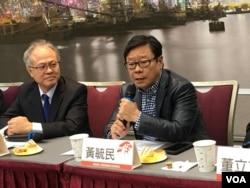 香港前立法會議員黃毓民(美國之音許寧攝影)