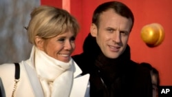 French President Emmanuel Macron and his wife Brigitte Macron are scheduled to visit the White House in late April, 2018.