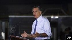 共和党候选人罗姆尼发表讲话