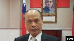台灣財政部長張盛和(美國之音 趙婉成拍攝)
