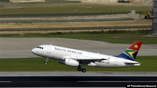 FILE - South African Airways passenger jet.