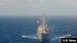 Kapal USS Lassen di Laut China Selatan, 25 Oktober 2015 (Foto: dok).