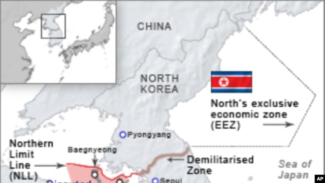 Disputed Area between North and South Korea