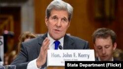 Ngoại trưởng Hoa Kỳ John Kerry phát biểu tại Ủy ban Đối ngoại Thượng viện vào ngày 23 tháng 2 năm 2016.