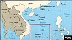 Lokasi kepulaun Spratley yang diperebutkan oleh Tiongkok, Taiwan, dan beberapa negara ASEAN.