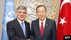 Cumhurbaşkanı Gül BM Genel Sekreteri Ban Ki Moon'la Görüştü