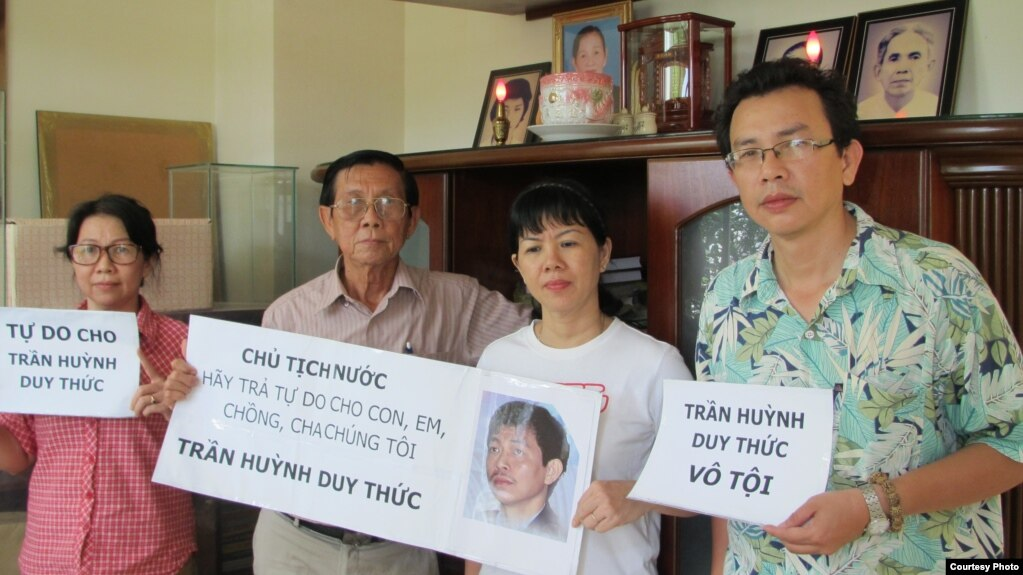 Gia đình TNLT Trần Huỳnh Duy Thức mong lãnh đạo Việt Nam đặc xá cho ông