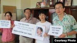 Gia đình kêu gọi trả tự do cho anh Trần Huỳnh Duy Thức.