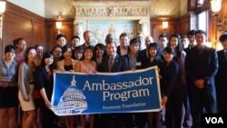 """福尔摩莎基金会2012年""""亲善大使训练营""""(福尔摩莎基金会提供)"""
