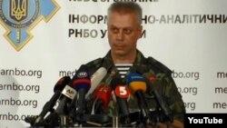 Juru bicara militer Ukraina, Andriy Lysenko menyalahkan Rusia atas konflik di Ukraina timur (foto: dok).