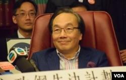 香港法律界選委梁家傑。(美國之音湯惠芸攝)