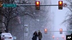 عکسهایی از برف کمسابقه واشنگتن دی.سی، ژانویه ۲۰۱۶