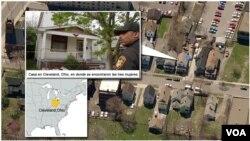 """La """"Casa del Terror"""" en Cleveland, donde fueron encontras las tres mujeres secuestradas durante una década."""