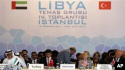美國在內的30多個國家在伊斯坦布爾宣佈承認利比亞反對派