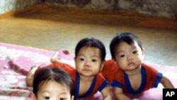 북한의 탁아소 어린이들 (자료사진)