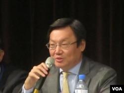 台北论坛基金会董事长苏起 (美国之音张佩芝拍摄 资料照片)